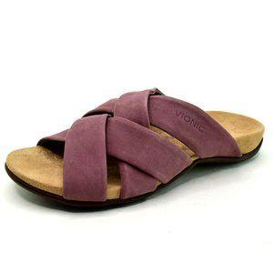 Vionic Womens Juno Suede Slider Sandals NEW